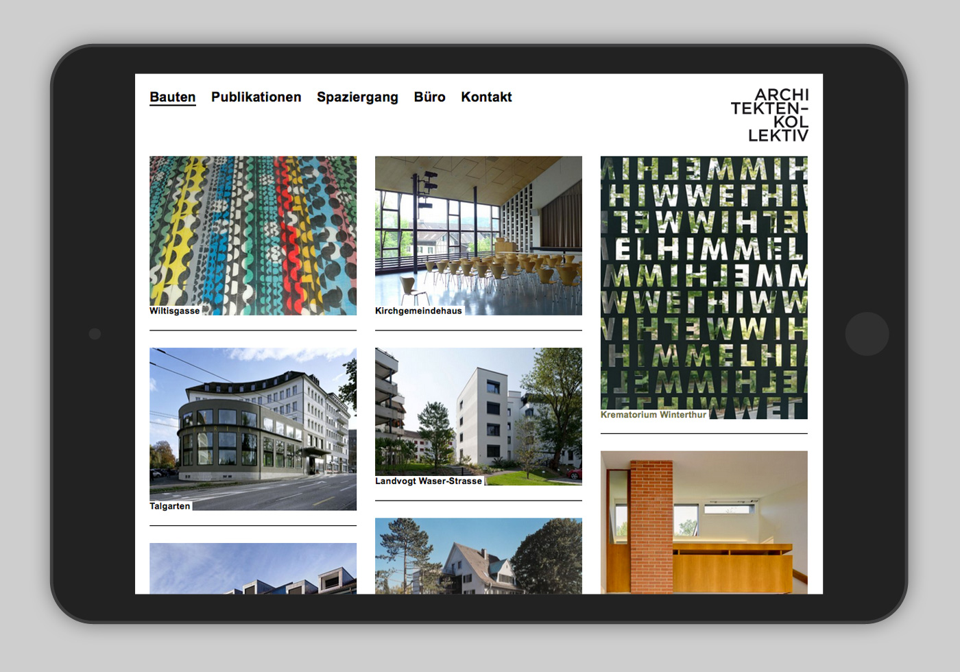 Website Architekten-Kollektiv